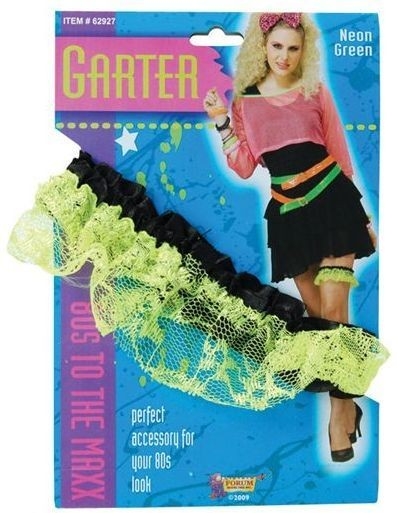 80'S Neon Lace Garter. Green (1980S , Sexy Fancy Dress)