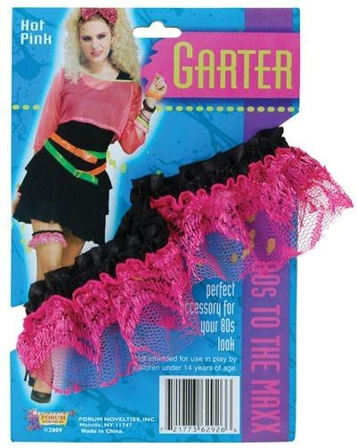80'2 Neon Lace Garter. Pink (1980S , Sexy Fancy Dress)