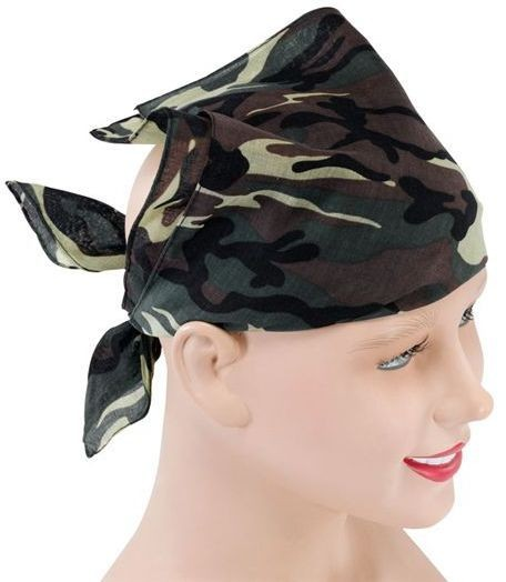Camouflage Bandana (Army Fancy Dress Hats)