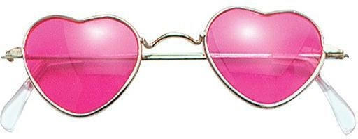 Glasses. Heart Shaped. Pink (1960S , 1970S Fancy Dress Glasses)