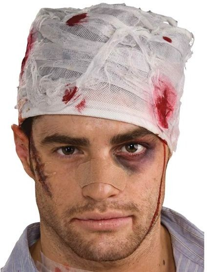 Bloody Head Bandage (Halloween Fancy Dress)