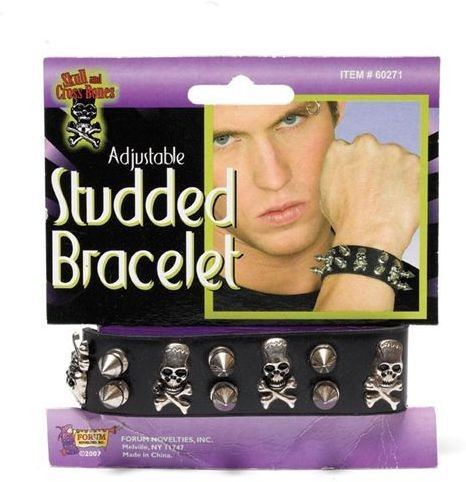 Studded Bracelet. Skull (1980S Fancy Dress Jewellery)