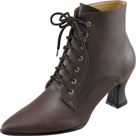 Victorian Shoes Brown (Fancy Dress Shoes)