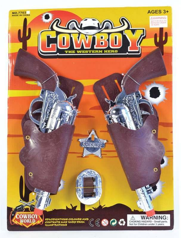 Cowboy Holster/Gun Set Child (Cowboys/Native Americans Fancy Dress Guns)
