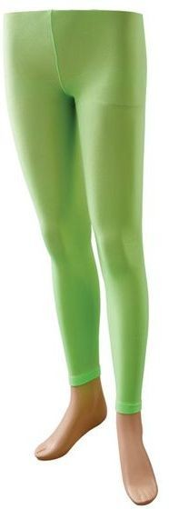 Footless Tights. Neon Green (1980S Fancy Dress Tights)
