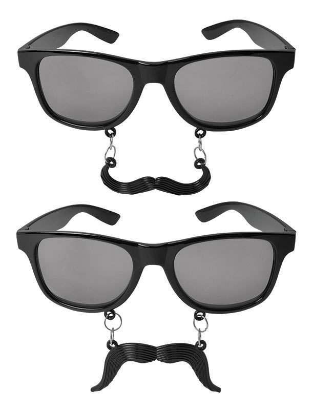 Glasses With Moustache. 2 Assorted Accessories