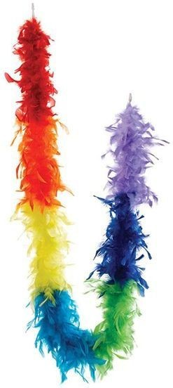 Feather Boa, Rainbow (1920S , Burlesque Fancy Dress Feather Boas)