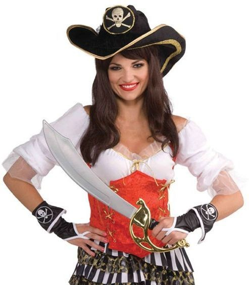 Pirate Glovelets (Pirates Fancy Dress Gloves)