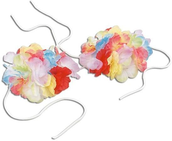 Flower Bra. Adult (Hawaiian Fancy Dress)