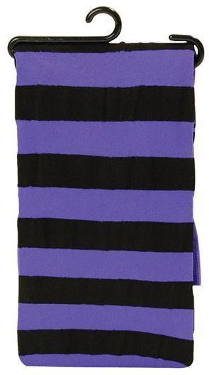 Tights. Striped Neon Purple/Black (Halloween Tights)
