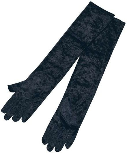 Gloves. Long Black Velvet (1920S , Halloween Gloves)