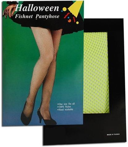 Fishnet Tights. Yellow (1980S Fancy Dress Tights)