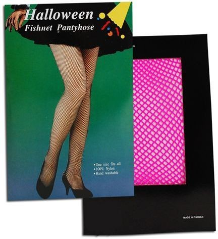 Fishnet Tights. Pink (1980S Fancy Dress Tights)
