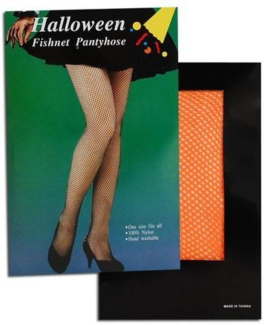 Fishnet Tights. Orange (1980S Fancy Dress Tights)