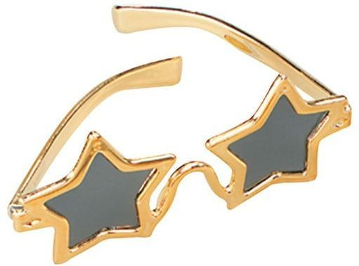 Star Glasses Gold (1970S , Music Fancy Dress Glasses)