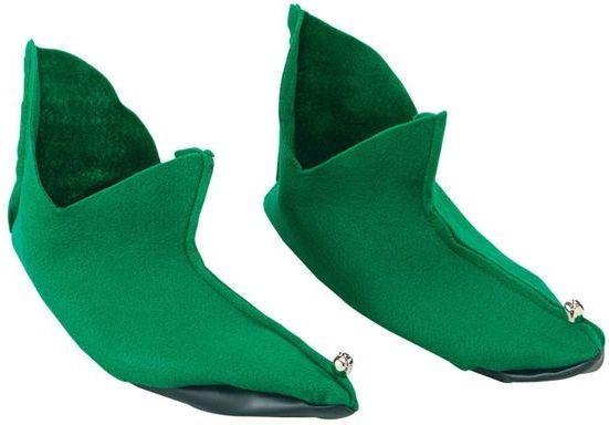 Elf/Pixie Shoes Felt. Green (Christmas Shoes)