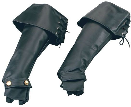 Boot Tops. Deluxe (Medieval , Pirates Fancy Dress Shoes)