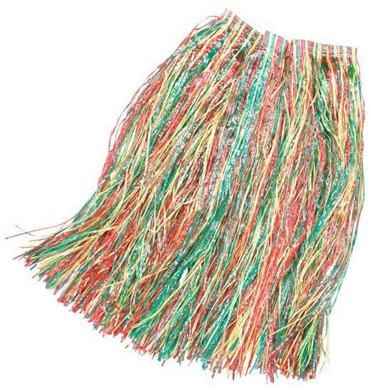 Grass Skirt 80Cm Budget Multi (Hawaiian Fancy Dress)