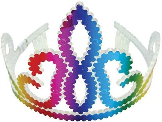Laser Rainbow Tiara (Royalty Fancy Dress Hats)
