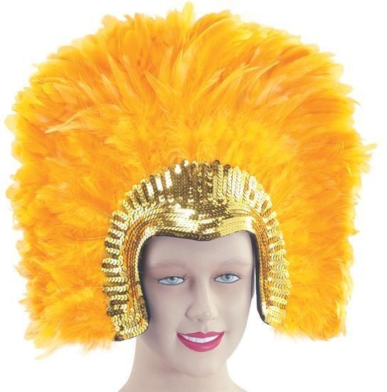 Feather Headddress Golddeluxe (Burlesque Fancy Dress Hats)
