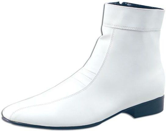 7c6725f7849 Ankle Boots Mens White (Fancy Dress Shoes) *DISCONTINUED*