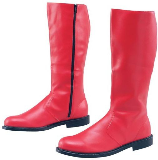 Long Boots Mens Red (Fancy Dress Shoes)