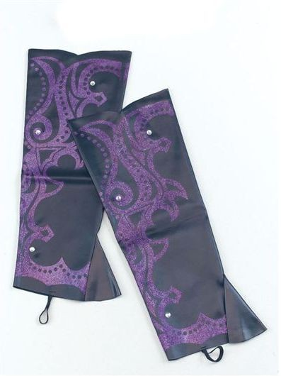 Boot Tops. Black/Purple Glitter (Cowboys/Indians , Halloween Shoes)