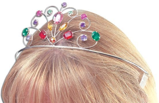 Tiara Metal. Coloured Stones (Royalty , Fairy Tales Fancy Dress Hats)