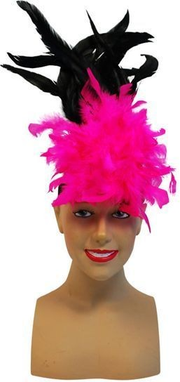 Charleston Headband Cerise (1920S , Burlesque Fancy Dress)