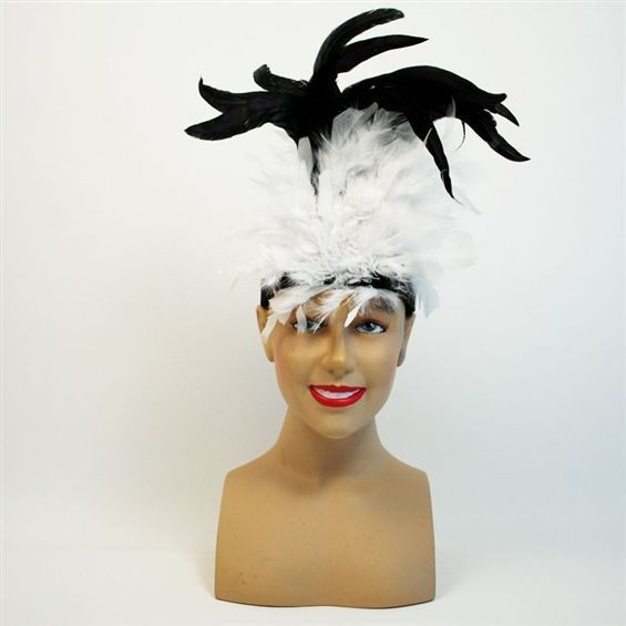Charleston Headband White (1920S , Burlesque Fancy Dress)