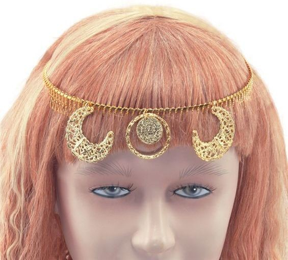Diadem Gold. Gypsy Design (Egyptian , Cultures Fancy Dress)
