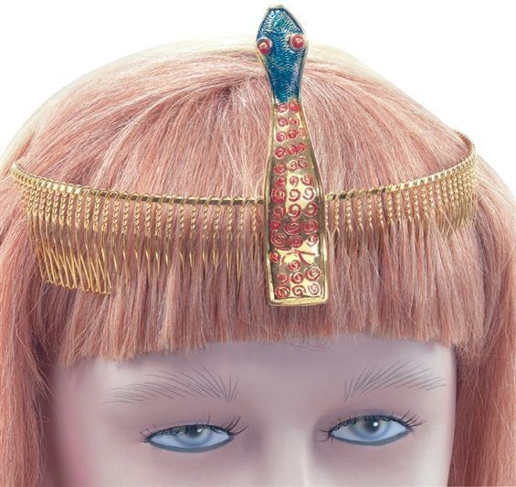 Diadem Gold. Snake Design (Egyptian , Cultures Fancy Dress)