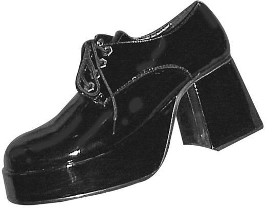 Platform Shoes Black Mens (1970S Fancy Dress Shoes)