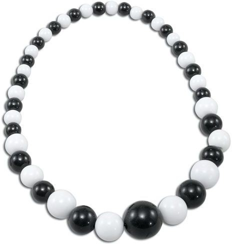 Black & White Necklace (1970S , 1960S Fancy Dress Jewellery)