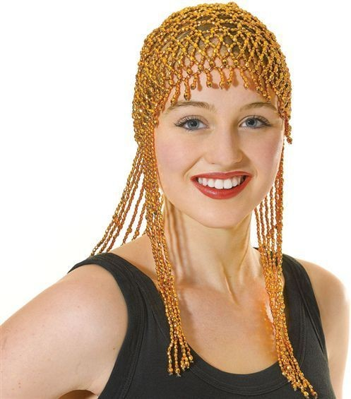 Gold Bead Headpiece (1920S , Burlesque Fancy Dress Hats)