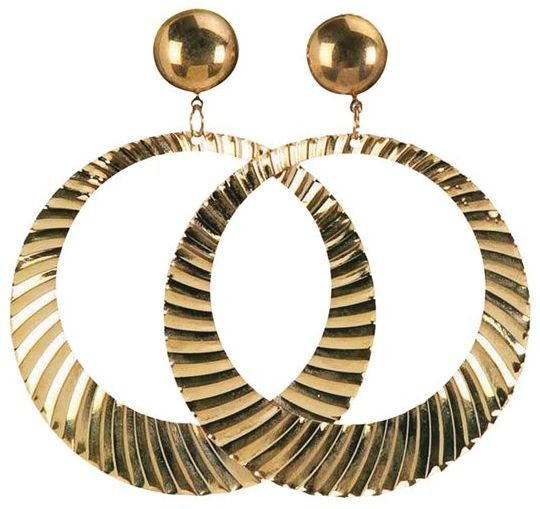 Hip Hop Giant Hoop Ear Rings (1970S , 1980S Fancy Dress Jewellery)