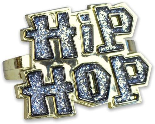 Hip Hop 2 Finger Ring (1970S , Pimp Fancy Dress Jewellery)