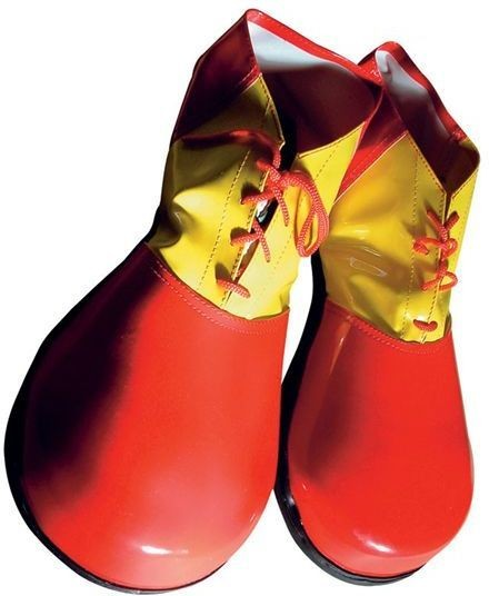 Clown Shoes Deluxe Adult (Clowns Fancy Dress Shoes)
