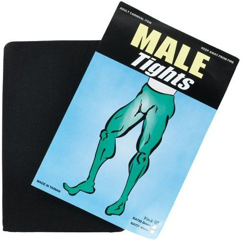 Male Tights. Black (Halloween , Drag Tights)