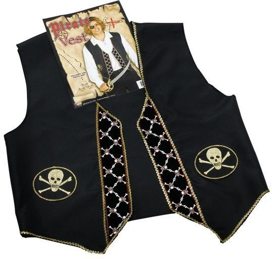 Pirate Waistcoat Deluxe (Pirates Fancy Dress)