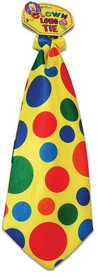 Clown Tie. Long (Clowns Fancy Dress)