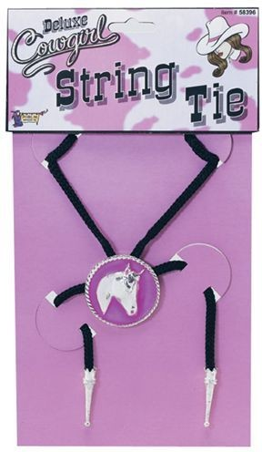 Cowgirl String Tie (Cowboys/Native Americans Fancy Dress Jewellery)