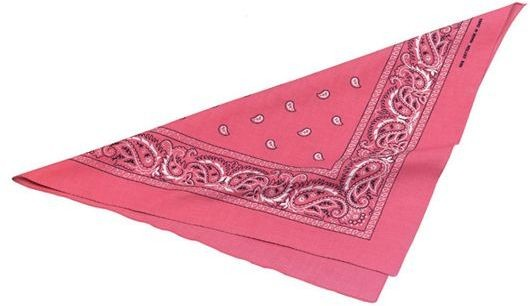 Cowgirl Bandana. Pink (Cowboys/Indians Fancy Dress)