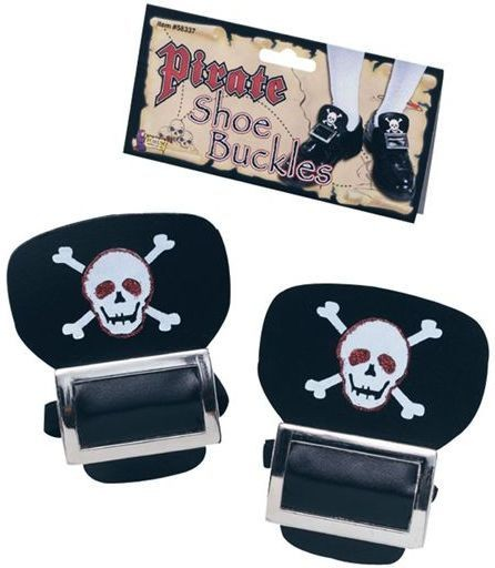Pirate Shoe Buckles (Pirates Fancy Dress)