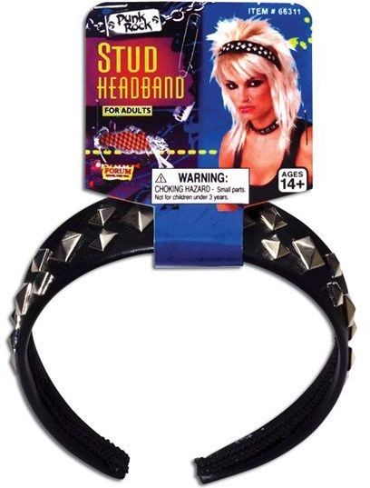 Punk Studded Headband (1980S Fancy Dress)