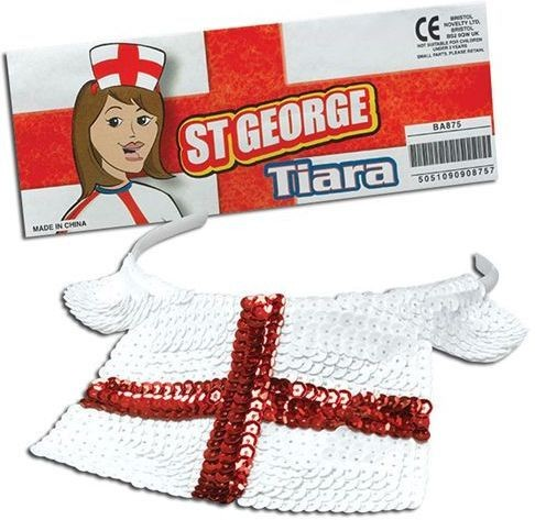 St George Sequin Tiara (Cultures Fancy Dress Hats)