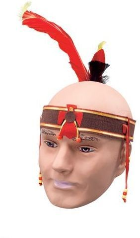 Indian Headband Deluxe (Cowboys/Indians Fancy Dress)
