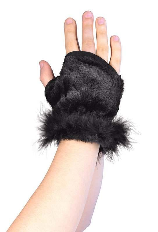 Fury Animal Glovelets. Black
