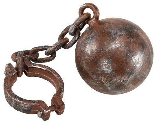 Jumbo Ball & Chain (Cops/Robbers , Halloween Fancy Dress)
