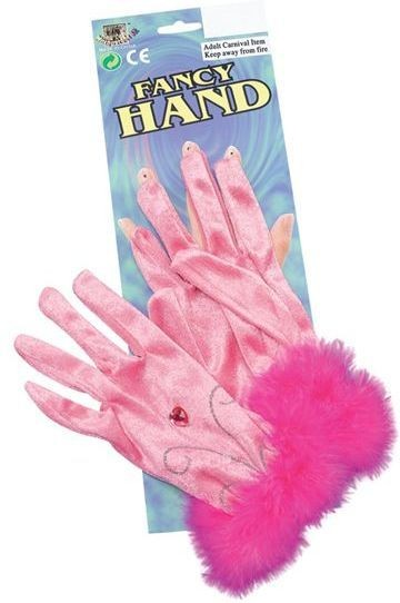 Pink Short Gloves & Marabou (1920S , Fairy Tales Fancy Dress Gloves)